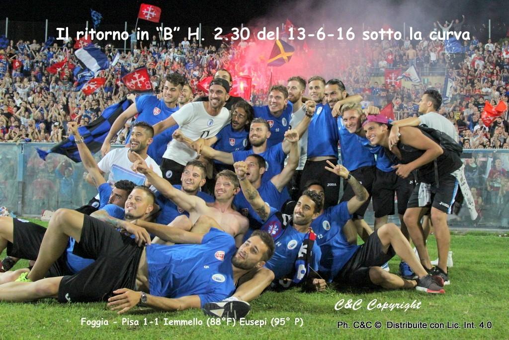 """Sport Il ritorno del Pisa in """"B"""""""