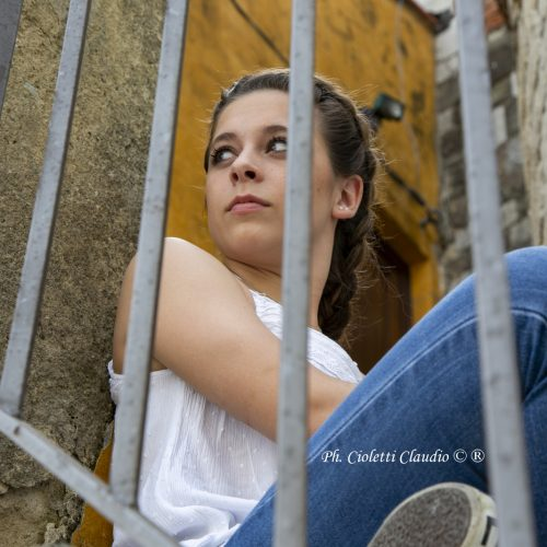 PHOTO SHOOTS IN THE STREET CON LUDOVICA S.